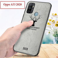 Oppo A53 2020 Soft Leather Case Casing Cover Deer Tahan Air Kesing