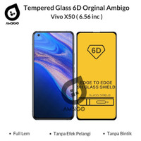 Tempered Glass 6D 9D Vivo X50 Full Cover Ambigo