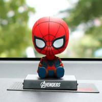 Pajangan Mainan Action figure Dasboard Mobil Avanger Spiderman