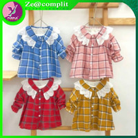Dress lace stripe/dress anak murah/baju anak perempuan