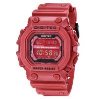 Jam Tangan Pria DIGITEC Digital Strap Karet Merah DG-2012T Original
