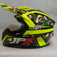 HELM JPX CROOS FULL FACE X 11 DUTY ARMY KUNING FLUO X11