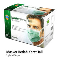 Masker Bedah Tali / Tie On 3 Ply Onemed Isi 50pcs
