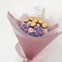 Paper Flower with Ferrero Rocher