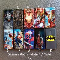 soft case Xiaomi Redmi note 4 . 4X motif gambar superhero softcase