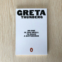 No One Is Too Small to Make a Difference Book by Greta Thunberg