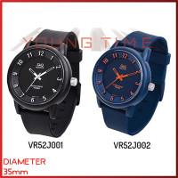 Q&Q - VR52 Series - Jam Tangan Karet UNISEX - Biru - Hitam - Hitam
