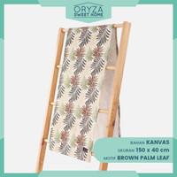 Taplak Meja Tamu Panjang Minimalis Mewah Modern - Motif Brown Palm