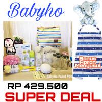 Babyho Paket Pompa Asi- Pompa Asi Elektrik Real Bubbe- Double Pump- Wa