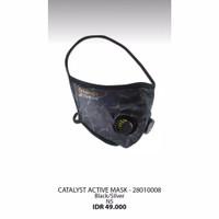 Masker olahraga outdoor bahan katun dengan katup bisa untuk sepeda