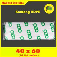 Kantong Plastik Laundry Bag Tebal UK 40x60 HDPE