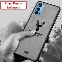 Oppo Reno 4 Indo Softcase Leather Case Casing Cover Deer Kesing TPU