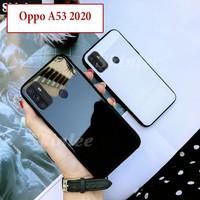 Oppo A53 2020 Hard Soft Case Casing Back Mirror Kaca Glass Kesing