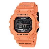 Jam Tangan Pria DIGITEC Digital Strap Karet Orange DG-2012T Original