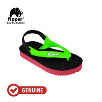 Fipper Todd's / Sandal Jepit Anak / Black / Red Ruby / Green Apple