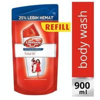 Sabun cair Lifebuoy 900ml refill merah total 10