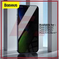 BASEUS SCREEN PROTECTOR ANTI SPY IPHONE 12 MINI PRO MAX TEMPERED GLASS