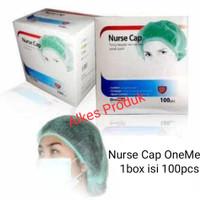Nurse Cap OneMed / Penutup Kepala / Hair Net / Topi Suster /Hair Cap