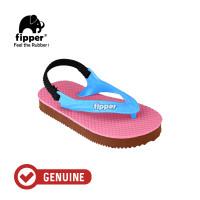 Fipper Todd's / Sandal Jepit Anak / Pink / Brown Dark / Blue Sky