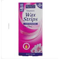 Beauty Formulas Vitamin E Wax Strips Hair Remover Legs & Body [Isi 40]