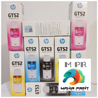 TINTA PRINTER HP ORIGINAL GT53 & GT52 - Hitam