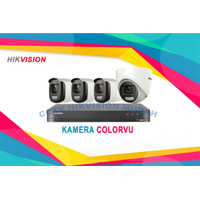 PAKET CCTV COLORVU HIKVISION 4 KAMERA UNIT ONLY