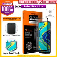 Tempered Glass Redmi Note 9 / Pro / Max Spigen Glas tR Full Cover - Note 9 Pro