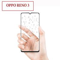 Oppo Reno 3 Anti Gores Kaca Tempered Glass Full Lem Screen Protector