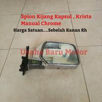 Spion Manual Chrome 1pc Sebelah Kanan Rh Toyota Kijang Kapsul , Krista
