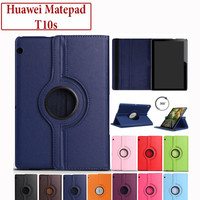 Huawei Matepad Mate Pad T10s Flip Leather Case Casing Cover Rotating