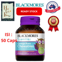 Blackmores Superkids Omega Brain Chewables 50 Capsules
