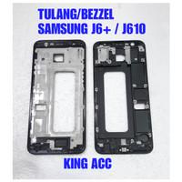 FRAME DUDUKAN TULANG TENGAH LCD SAMSUNG GALAXY J6 PLUS J610 ORIGINAL