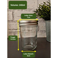 TOPLES MASON JAR 240ml