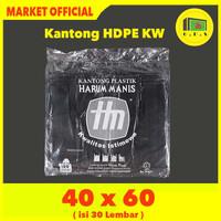 Kantong Plastik Kresek Hitam Tebal UK 40X60 HDPE