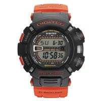Jam Tangan Pria DIGITEC Digital Strap Karet Orange DG-2095T Original