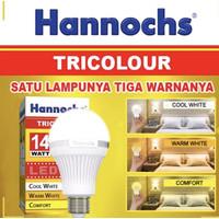 Hannochs Lampu LED Tricolour 14 Watt 3 Warna Cahaya Bulb Bohlam