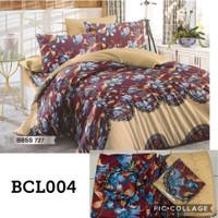 Bedcover Set + Sprei Ukuran King size 180X200 BAHAN Katun Poly TC 80/4