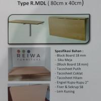 meja kerja / meja dinding lipat