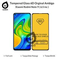 Tempered Glass 6D 9D Xiaomi Redmi Note 9 Full Cover Ambigo