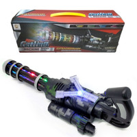 Mainan Pistol Lampu Suara - Senapan Gatling Machine Gun