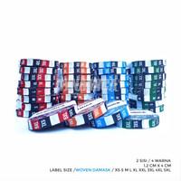 LABEL SIZE WOVEN - Label Ukuran Baju - Good Quality - dynamica