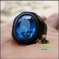 cincin batu BLUE TOPAZ LONDON super mewah elegan