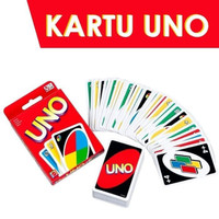 Kartu UNO Card Polos Permainan Board Games Edukatif Seru Family Friend