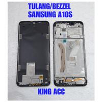 FRAME DUDUKAN LCD TULANG TENGAH SAMSUNG GALAXY A7 2018 A750 ORIGINAL