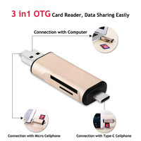 CROUCH Memory Card Reader OTG 3in1 USB Type C + Type A + Micro US-170