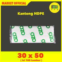 Kantong Plastik Laundry Bag Tebal UK 30x50 HDPE