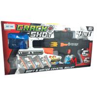 Pistol Mainan 885 Peluru Busa - Lampu dan Suara