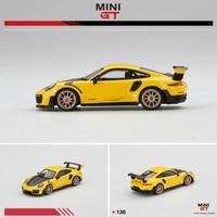 Mini GT 1/64 Porsche 911 GT2 RS Racing Yellow