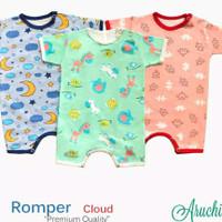 Romper S M L Baby Aruchi Isi 3 pcs