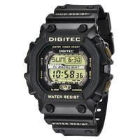 Jam Tangan Pria DIGITEC Digital Strap Karet Hitam DG-2012T HK Original